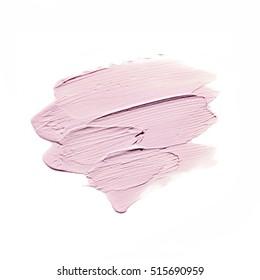 Pink colorMake up base foundation on background