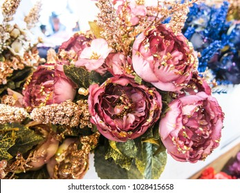 Pink Colors Luxurious Artificial Roses Flowers Stock Photo Edit Now - Which-artificial-flower-colors-are-good-for-a-home