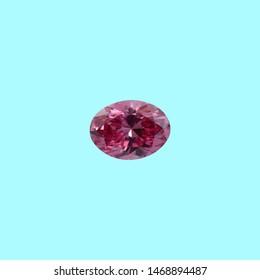 pink colour dimond on white background