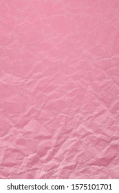 Pink, Crumpled Paper Seen From Above