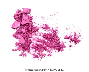Pink Crushed Cosmetic isolate on white.