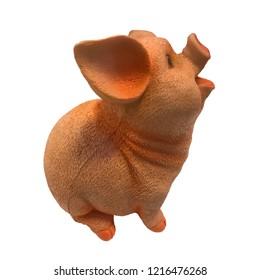 Pink cute pig toy