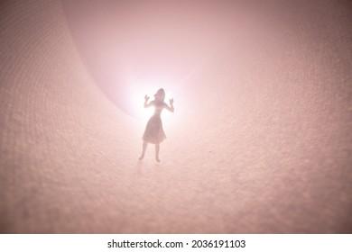 A pink dreamy spiral scene
