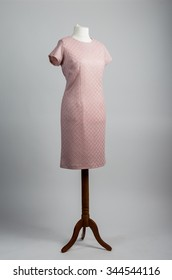 pink dress on a mannequin