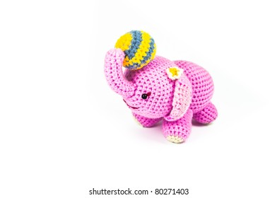 Pink elephant   Knitting doll