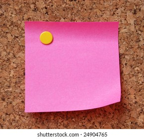 pink empty note pad