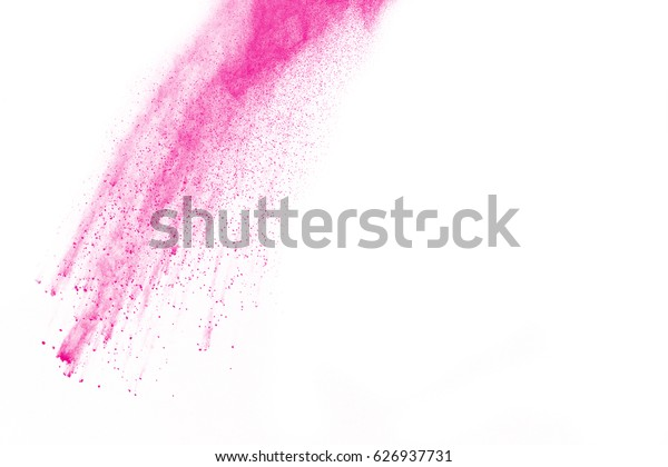 Pink explosion isolated on white background