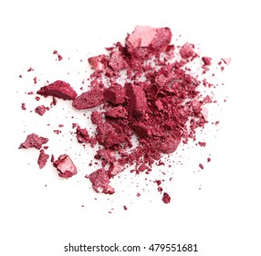 Pink eye shadow isolated on white