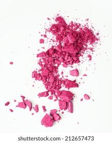 pink eyeshadow isolated on white background