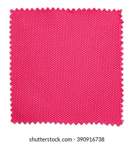 pink fabric swatch samples isolated on white background