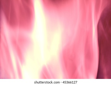 Pink Flames of Fire illustration with Copy Space
