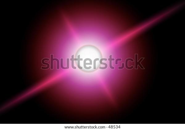 Pink flare on black