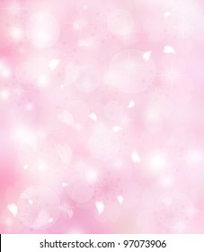 Pink flower petals background