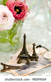 pink flowers with Tower objects