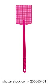 Pink Flyswatter isolated on white background