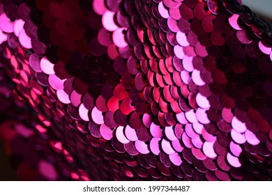 Pink Fucshia sequins texture clothes party shiny textile sequin style