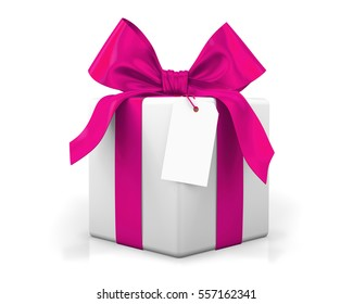 pink gift box Valenting day concept 3d  rendering