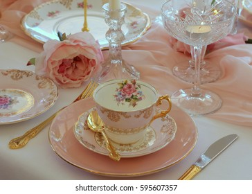 Pink and gold afternoon tea party