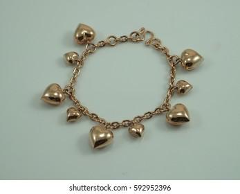 pink gold bracelet