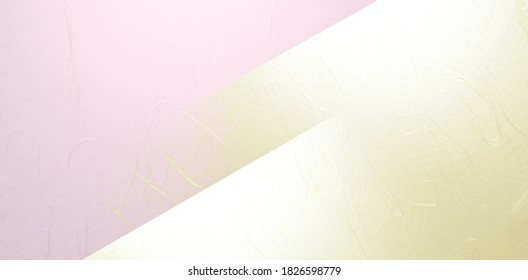 Pink and gold Japanese paper construction abstract  - Shutterstock ID 1826598779