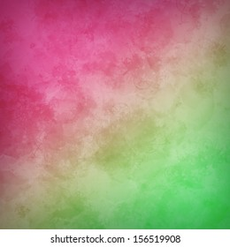 Pink and green grungy background