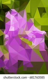 Pink green polygonal illustration.  Triangular design for your business.Geometric background in Origami style