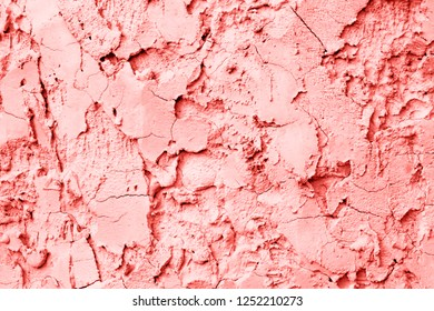 pink  grunge cracked  concrete wall texture background