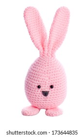 pink handmade stuffed animal easter bunny