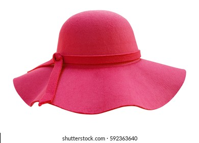 Pink hat isolated on white background