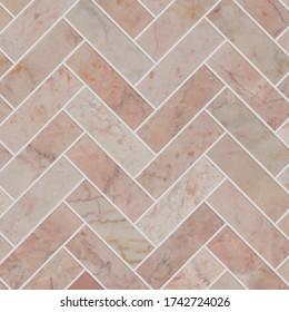 https www shutterstock com image photo pink herringbone marble mosaic tile texture 1742724026