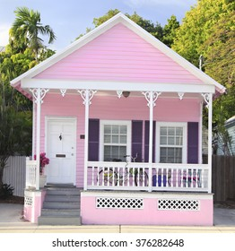 Pink House in Key West, Florida