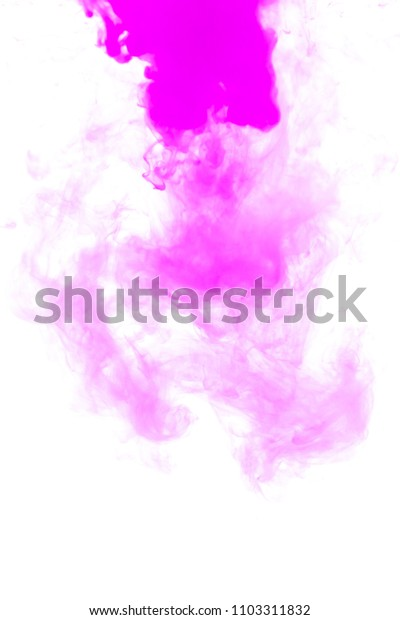 Pink ink in water background