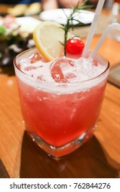 pink lady or ginsling cocktail glass
