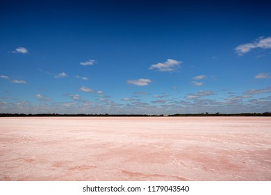Pink Lake (historically known as Lake Lochiel) is a small circular salt lake on the Western Highway just north of Dimboola in Victoria, Australia