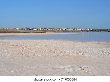Pink lake in Torrevieja