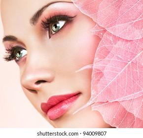 rosafarbene Blätter