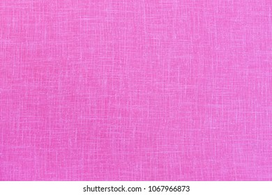 Pink linen texture. Canvas fabric background. Pink pure linen texture