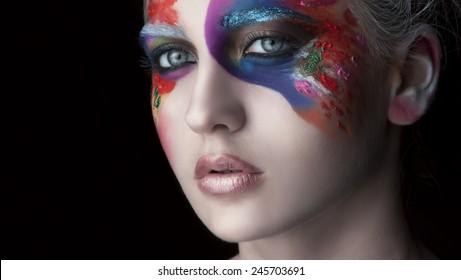 Pink lips and beautiful makeup