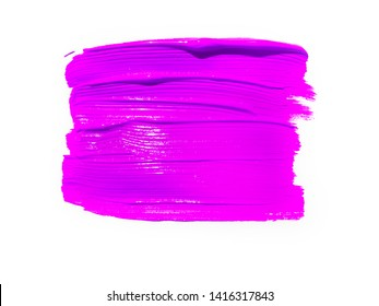 Pink lipstick smudged background. Lipstick or other makeup product swatch. Acrylic paint smeared texture. Red gouache brush painted wallpaper. Can be used as an advertisement banner, text background.