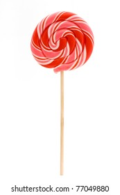 pink lollipop isolated on a white background