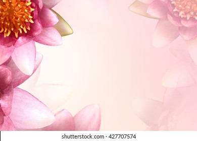 Pink lotus in soft color for background