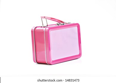 pink lunchbox - isolated on white