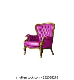pink Luxurious armchair in white room