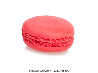 pink macaroon isolated on the white background
