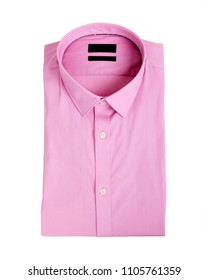 Pink man shirt on white background - New and folded