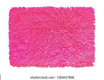 Pink mat Microfiber fabric texture isolated on white background with clipping path
