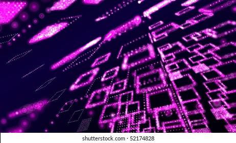 pink matrix abstract wallpaper - hdtv format