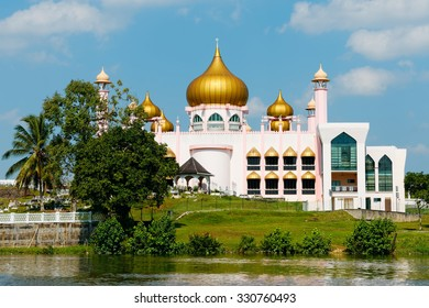 Pink Mosque in Kuching city - Borneo, Malaysia                    - Shutterstock ID 330760493