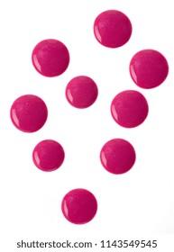 pink nail polish isolated on white background