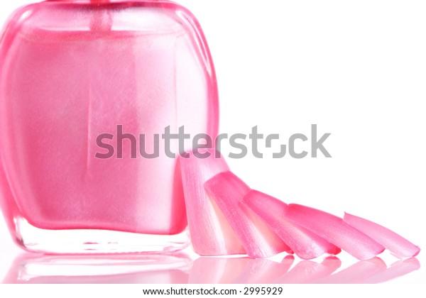 Pink Nails and Nail Polish